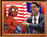 Sort my tiles Obama and Spiderman p�kember j�t�kok